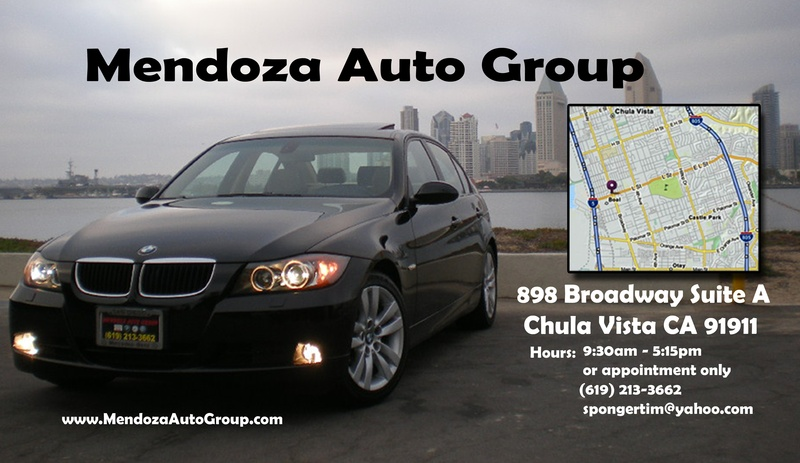 Mendoza Auto Group Business Card  back